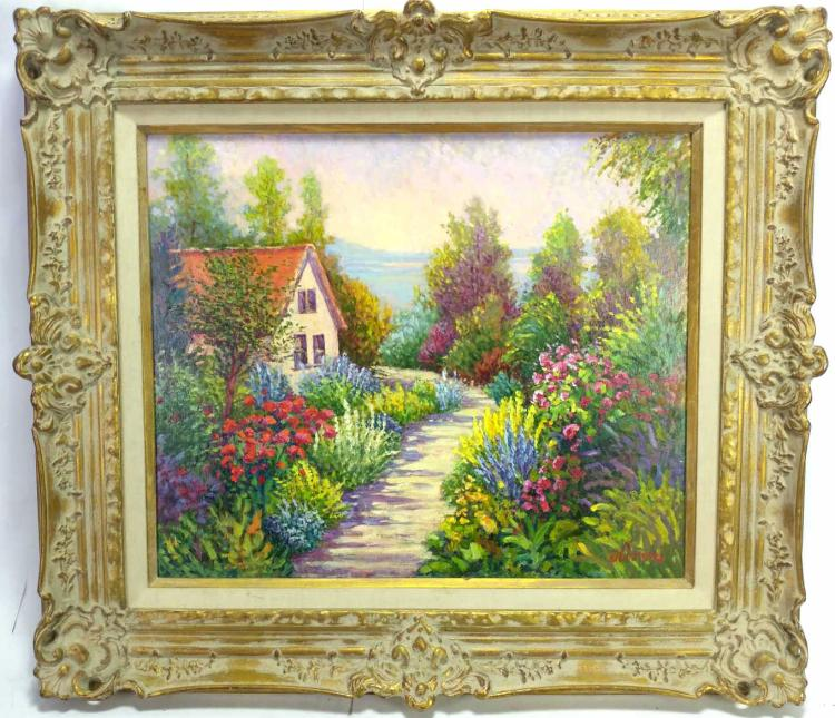 Joanne Oliver, Country Home Path Oil on Canvas