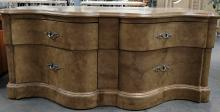 Ornate Marble Style Finish 4 Drawer Dresser