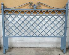 Queen Metal Lattice Headboard