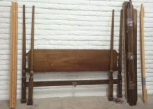 King Wood Poster Head & Footboard w/ Rails