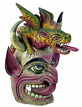 Large Wooden Guerro Folk Mask