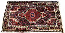 Large Red and Blue Oriental Rug