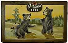 Gettelman Milwaukee Beer Advertising Plaque