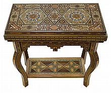 Syrian Marquetry / Inlaid Game Table