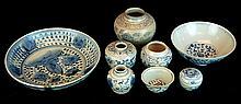 (8) Pcs. Chinese Blue & White Porcelain Lot