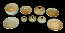 (9) Pcs. Asian Celadon Pottery Lot