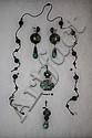 19th Century Chinese Jade Jewelry Set