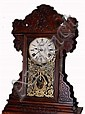 c.1900 Pressed Pattern Gingerbread Kitchen Clock