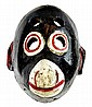 Antique Painted Wood Childs Monkey Mask Circa 1940