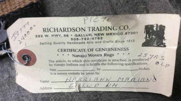 Harrian Mariano Hand Woven Navajo Yei Rug