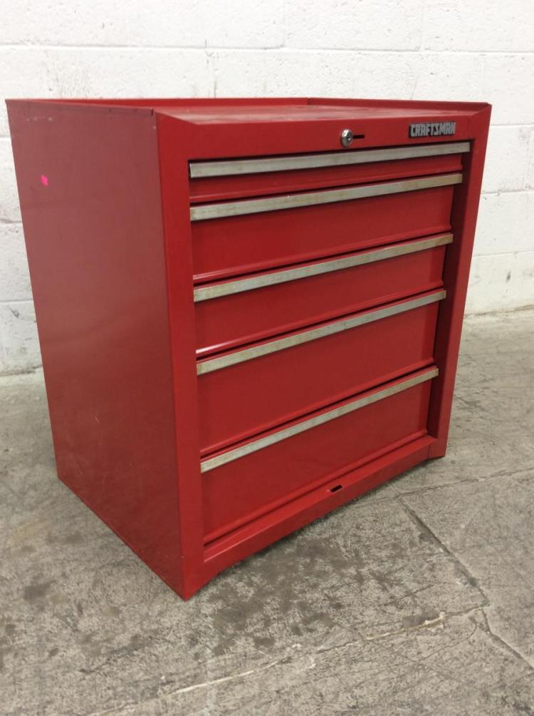 craftsman 5 drawer red tool chest. Black Bedroom Furniture Sets. Home Design Ideas