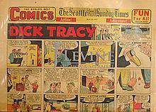 May 26, 1957 Comic Strip Newspaper w/ Dick Tracy, Etc...