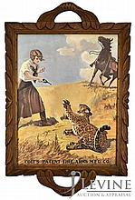 Tray w/ Colt's Patent Fire Arm's Advertising Print