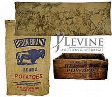 Bison Brand Sack, Tapestry & Hercules Powder Box