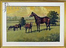 Reginald Jones Oil Painting, Prairie Horses