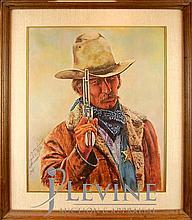 Roy Hampton Cowboy Signed Print