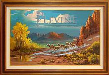 Beverly Carrick (ne 1930) Western Oil Painting #1