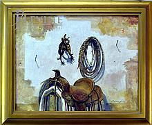 Reginald Jones Oil Painting, The Cowboy Rig