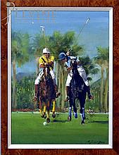 Reginald Jones Oil Painting, Polo