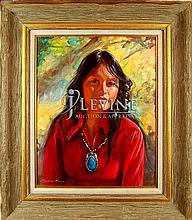 Claudine Morrow (ne1931) Rosie Slim, Oil on Canvas