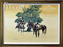 Reginald Jones Oil Painting, Vaqueros (Cowboys)