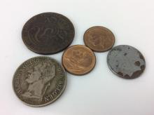 10pc. 1856-1954 Belgium & Congo Coin Collection