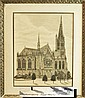 Print of Notre Dame Cathedral, Paris France