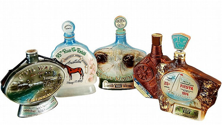 Jim Beam Historic Decanter Lot