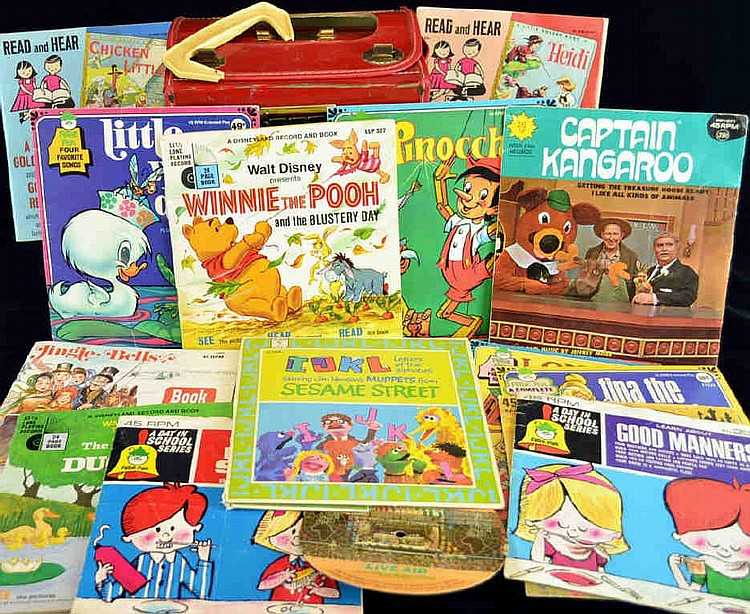 Collection of vintage children's records by Peter