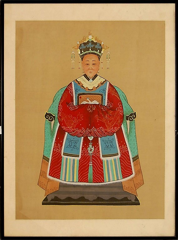 Asian Empress Textile Painting