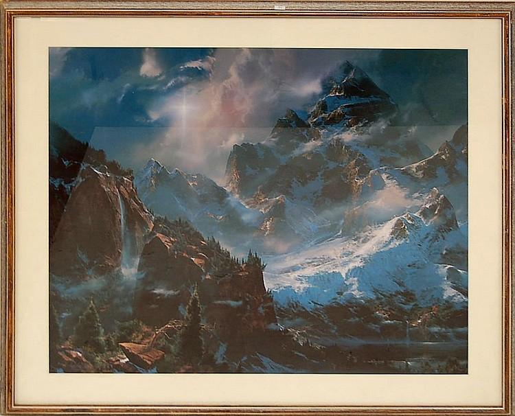 LARGE Framed Mountain Range Print