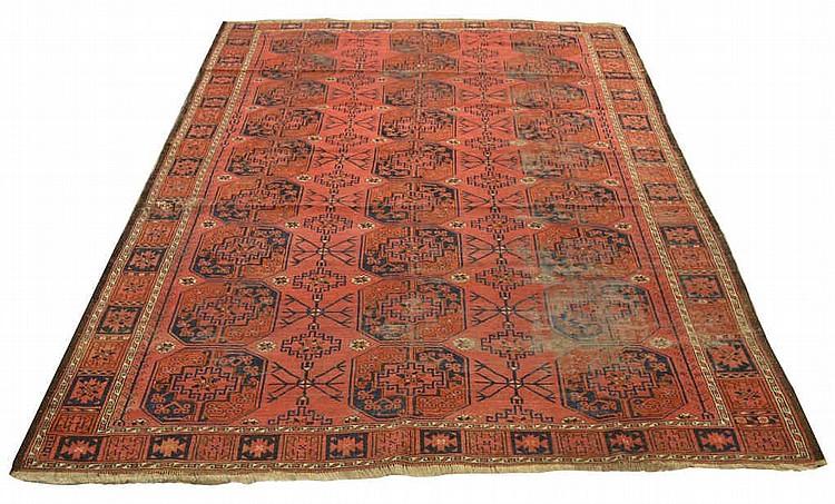 Multi Gul Turkomon Persian rug, approx. 91
