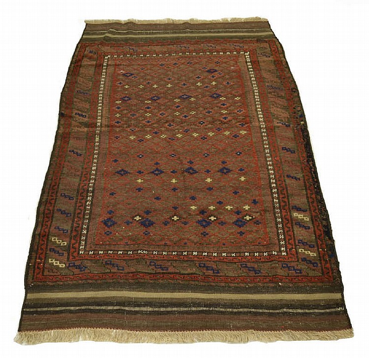 Tribal Beluchi Persian rug, approx. 41