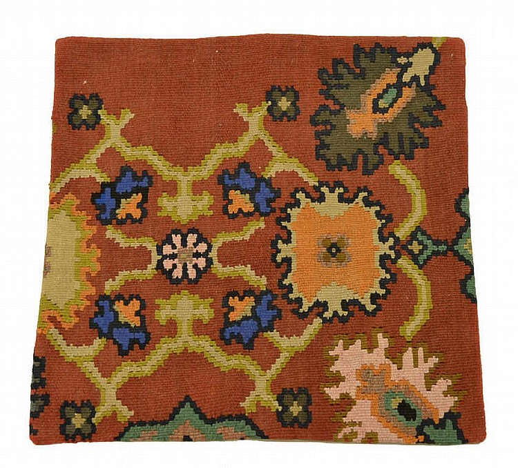 Kilim Pillow Face, pillow top made from a rug.