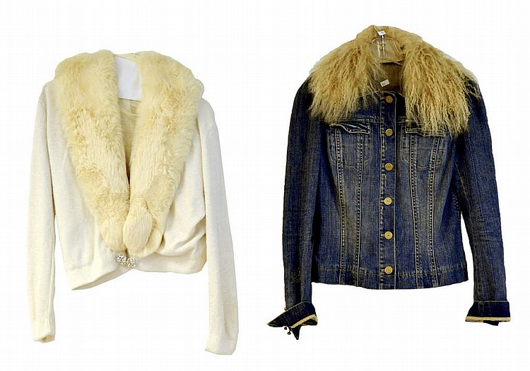 2 fur collar jackets, City Fur Co. white coat,