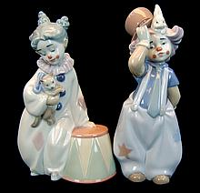Lladro Porcelain Gloss PAIR #8093 & #8092