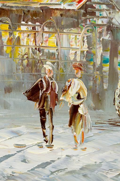 Caroline Burnett Paris Street Scene Painting 1