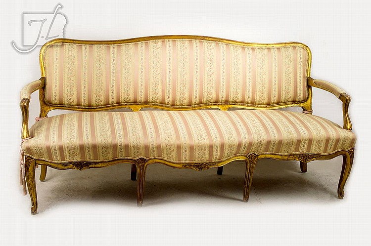Giltwood French Provincial Sofa