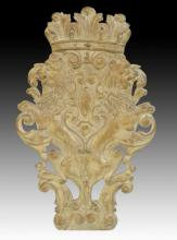 Continental Carved Crest 20th C.