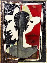 Dali, Self Portrait Splitting Into Three Tile