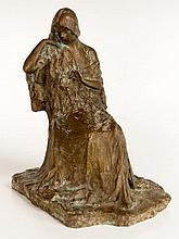 Bessie Potter Vonnoh, A Seated Young Woman Bronze