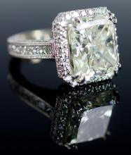 18K Fine Estate 11.67ct Radiant Diamond Ring