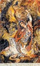 Mahmoud Farshchian Persian Pictorial Rug