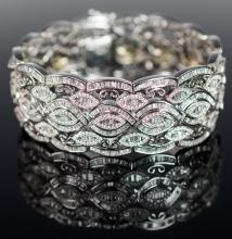 White Gold Stunning Estate Diamond Bracelet
