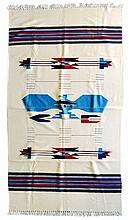 Contemporary Woven Blanket, Thunderbird Motif (#2)