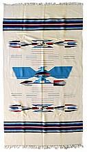 Contemporary Woven Blanket, Thunderbird Motif (#1)