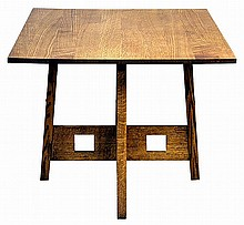 Mission Oak Style Lamp Table
