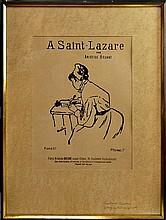 A Saint Lazare, Toulouse-Lautrec Lithograph