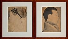 PAIR Silhouette Drawings 19th Century