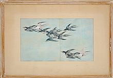 Antique Japanese Avian Diptych Print